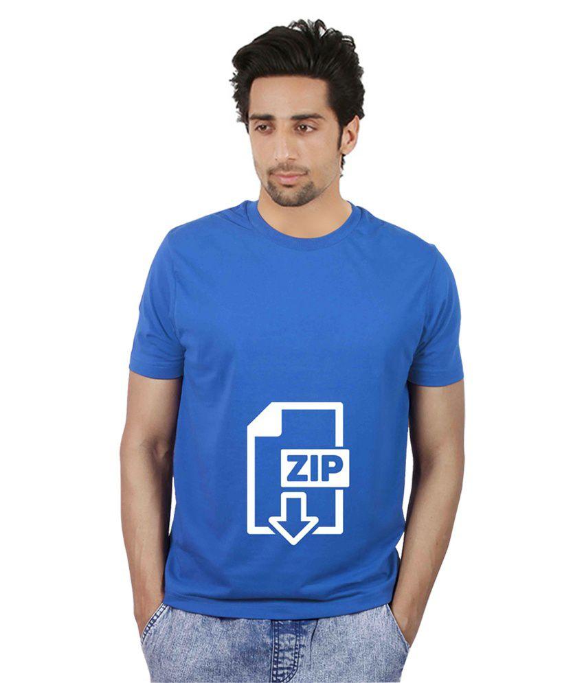 Booganz Blue Cotton Blend T- Shirt