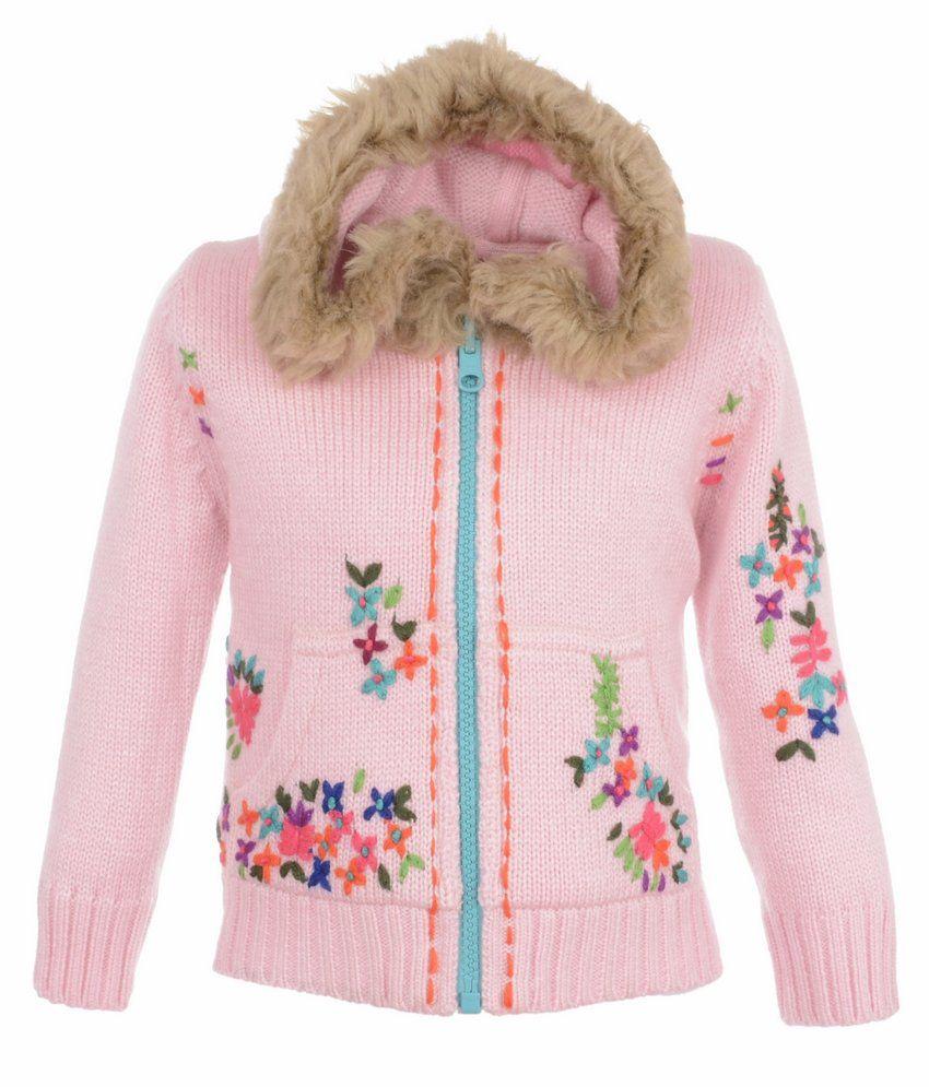 Yellow Apple Pink Acrylic Full Sleeves Jacket With Hood