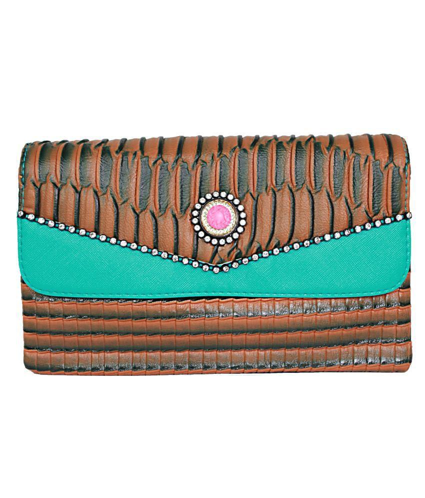 Fieesta Brown Leather Long Wallet