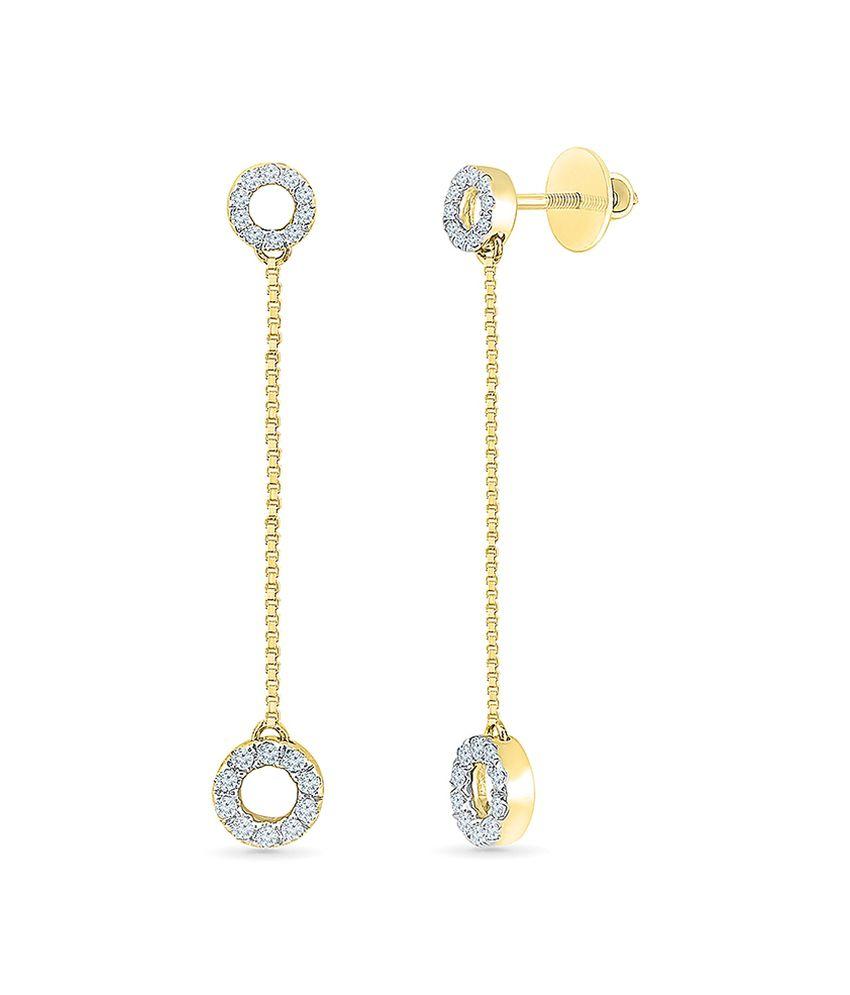 Radiant Bay 18kt Gold Diamond Danglers
