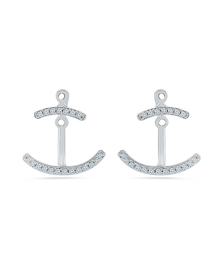 Radiant Bay 14kt Gold Diamond Drop Earrings