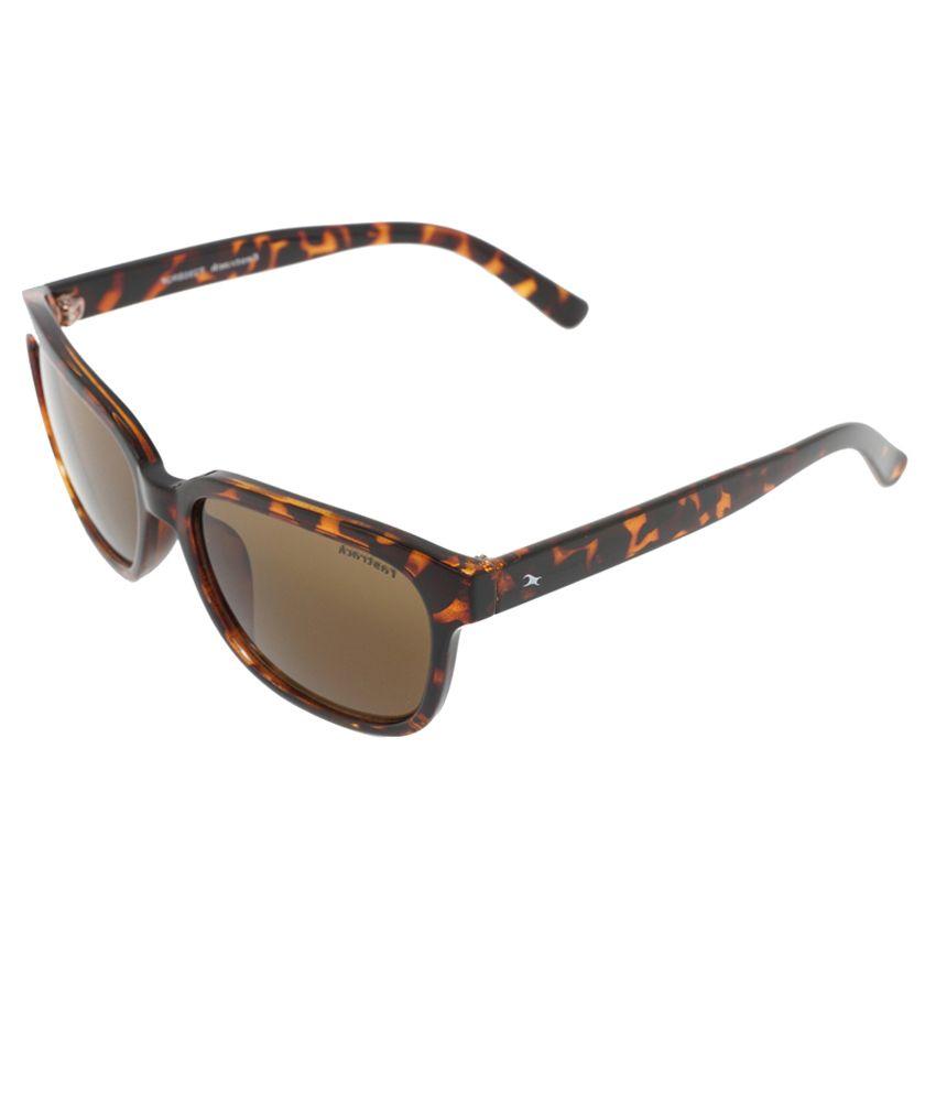 Fastrack P286BR2F Brown Wayfarer Sunglasses
