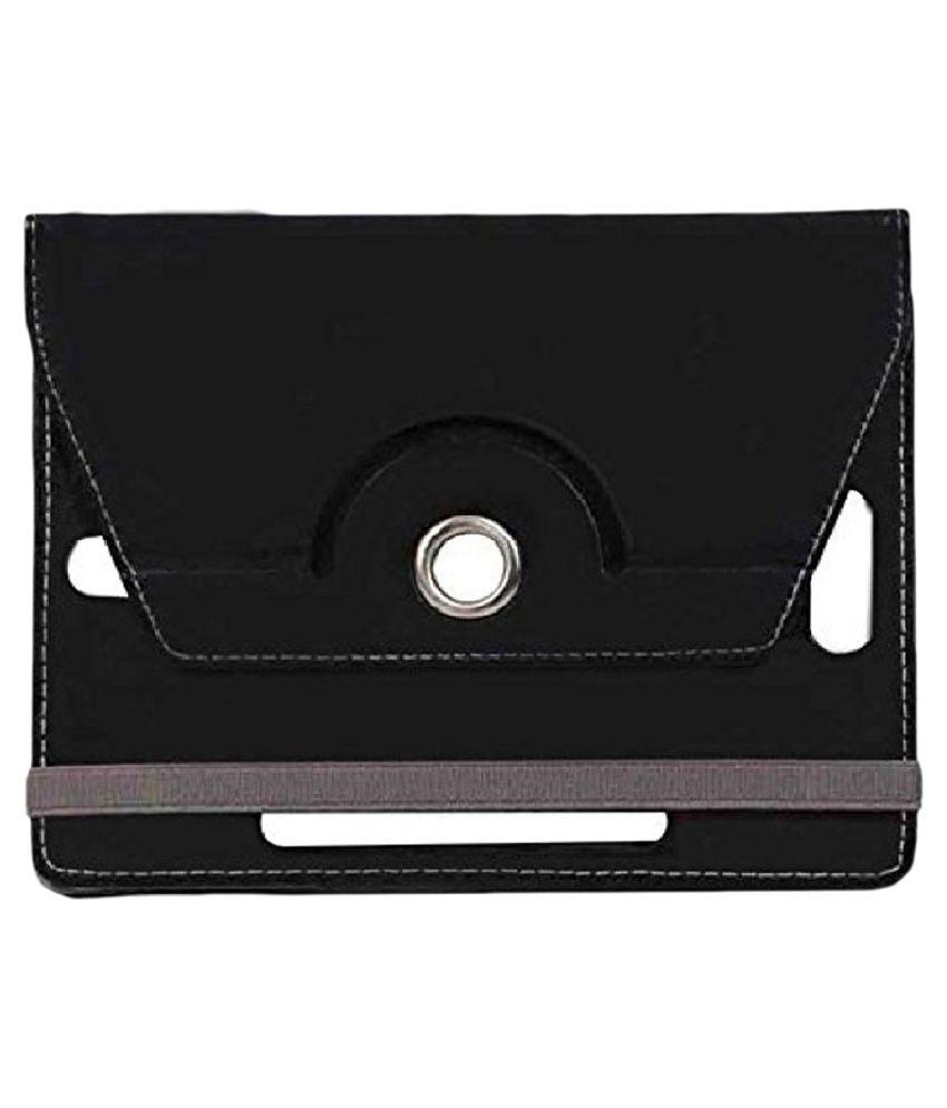 Jkobi Tablet Book Flip Cover For iBerry Bt10 - Black