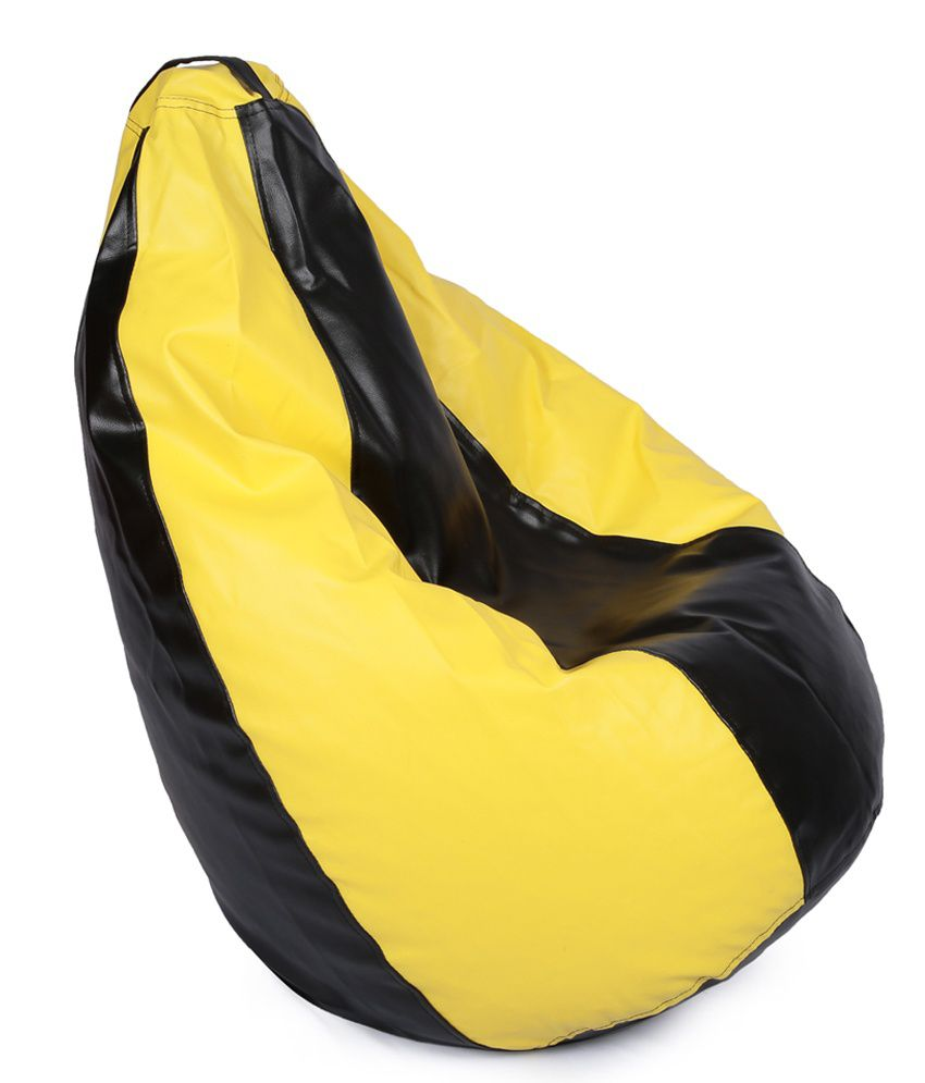 orka bean bag xxl with beans yellow best price in india on. Black Bedroom Furniture Sets. Home Design Ideas