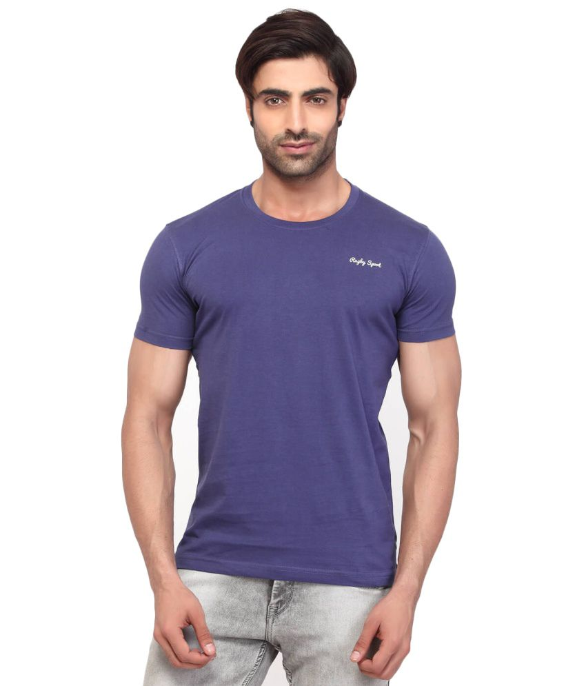 Rugby Purple Cotton T Shirt