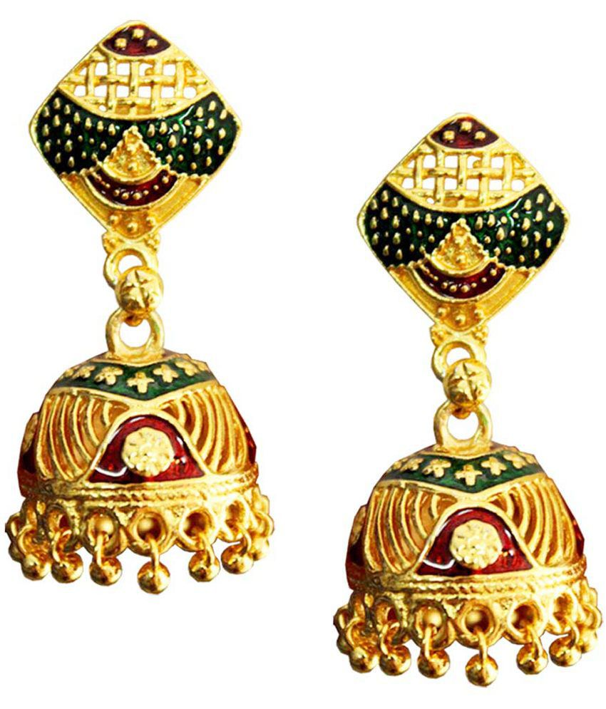 Pihu Gold Plated Traditional Jhumki Earring