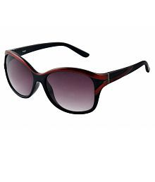 Image Brown Oval Sunglass Size:58-16-140