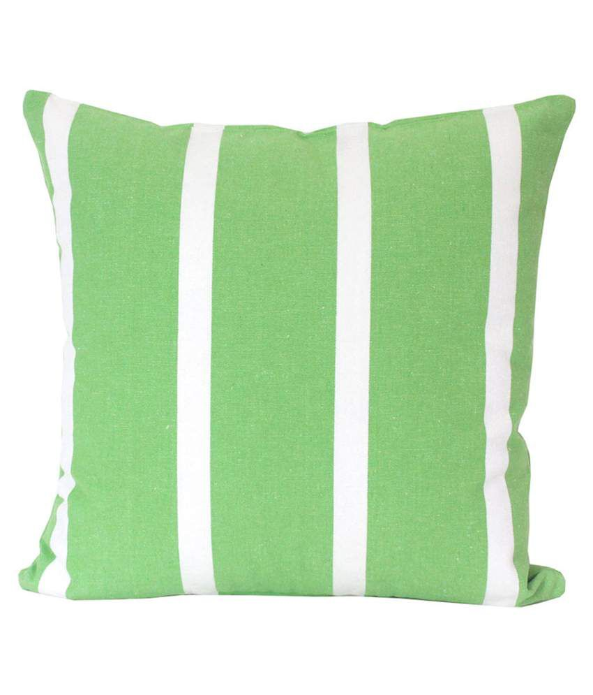 Blueberry Home Green Cotton Cushion Cover Set Of 4