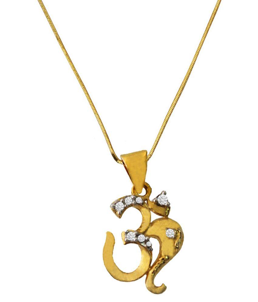 Pihu Gold Plated CZ Designer Pendant