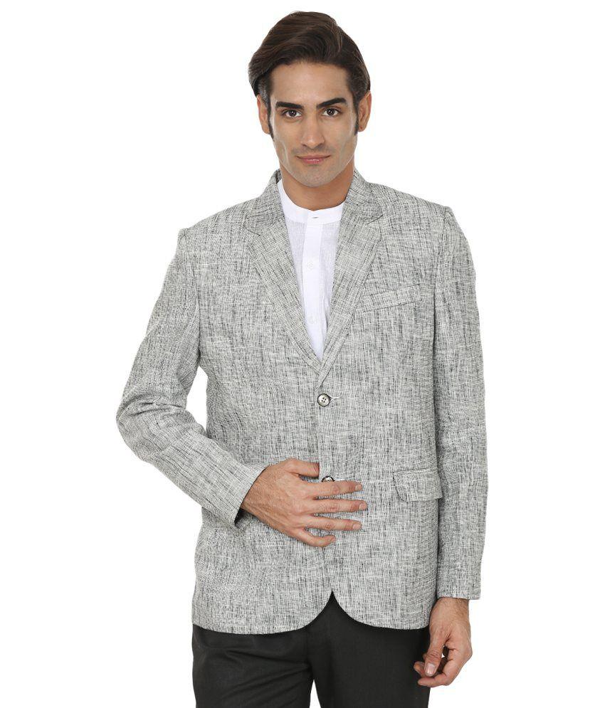 Wintage Solid Delight Grey Blazer