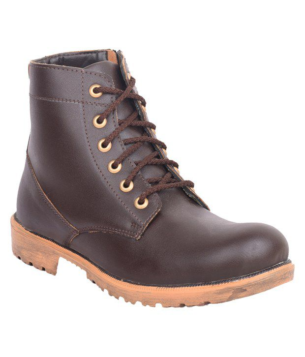 Musk Duck Brown Lace Boots