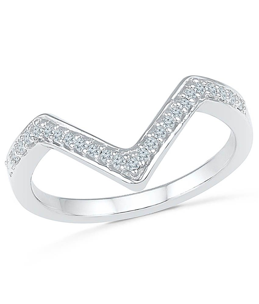 Radiant Bay EGL Certified 14Kt White Gold Ring