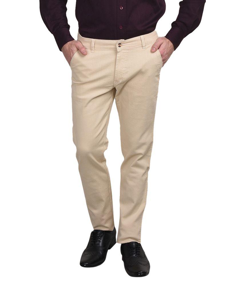 Golden Cloud Beige Regular Fit Jeans