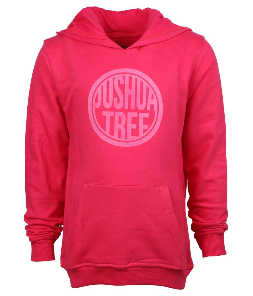 Joshua Tree Pink Cotton Sweatshirt