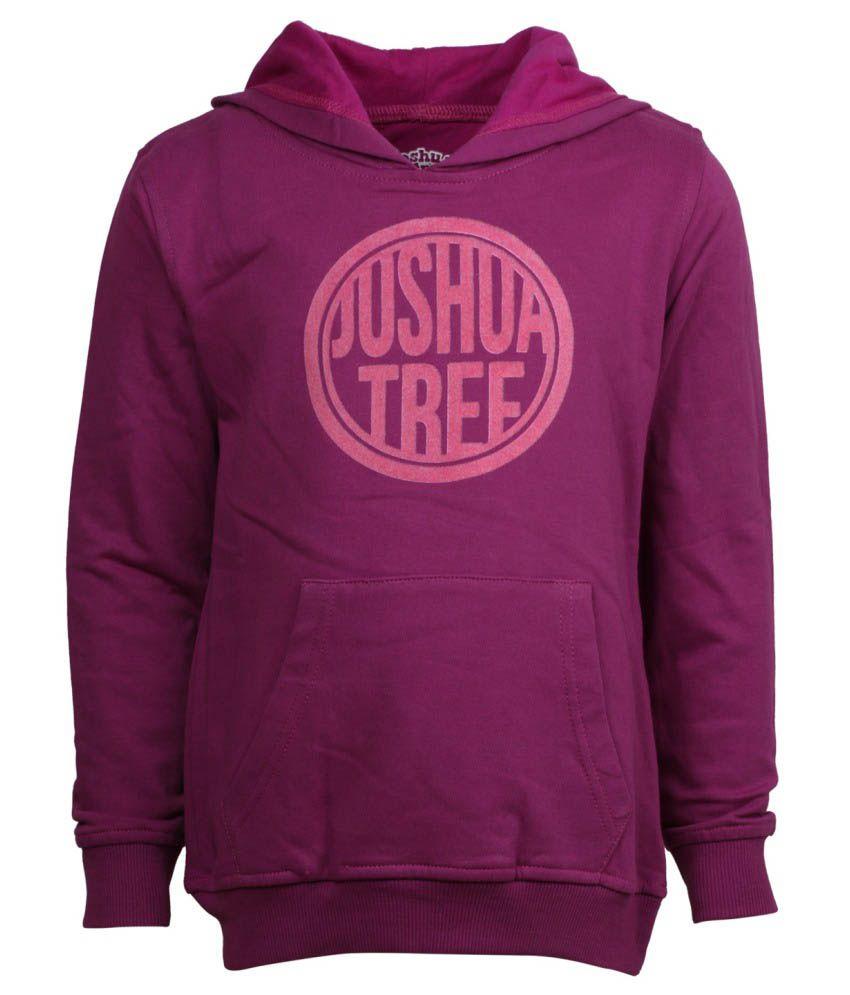 Joshua Tree Purple Cotton Sweatshirt