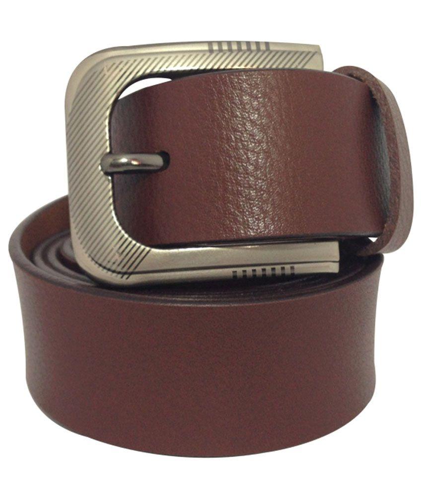 Mohd Javed Brown Formal Single Belt For Men