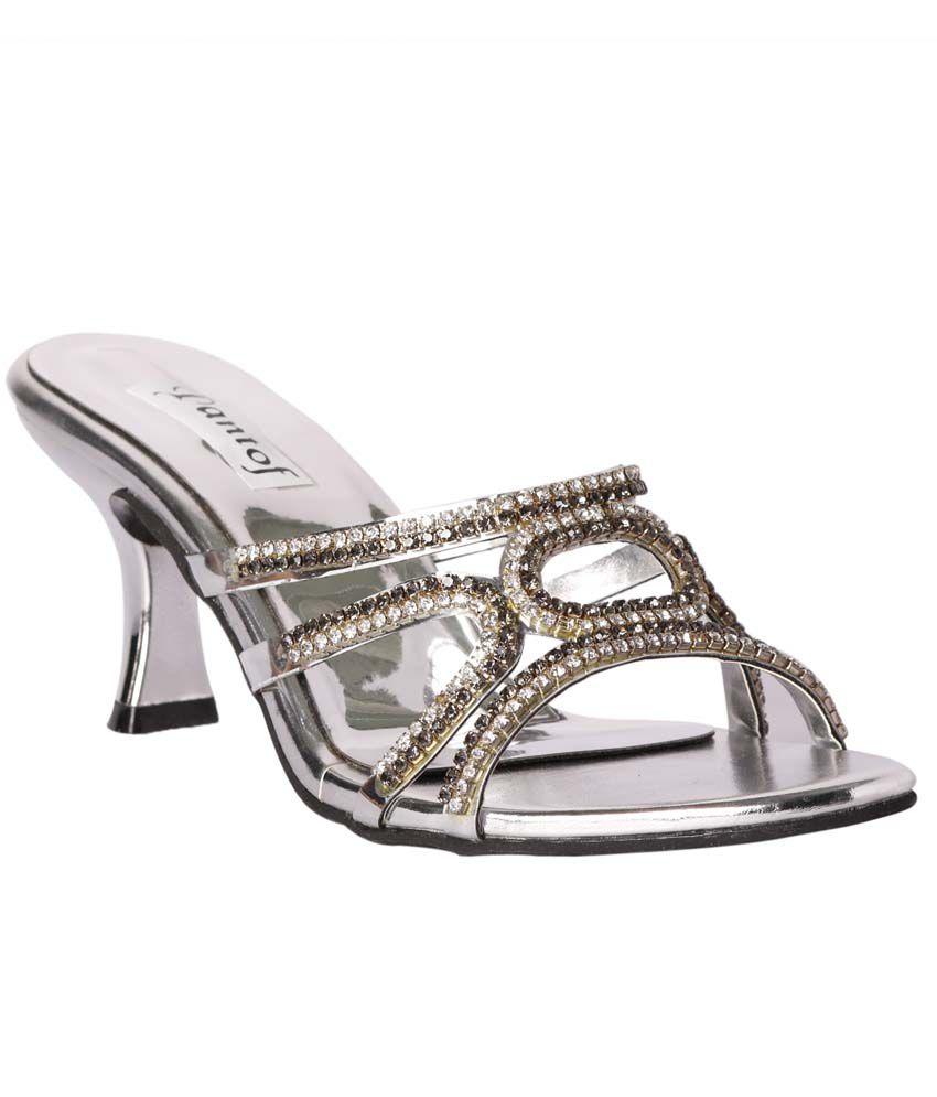 Pantof Silver Kitten Heels