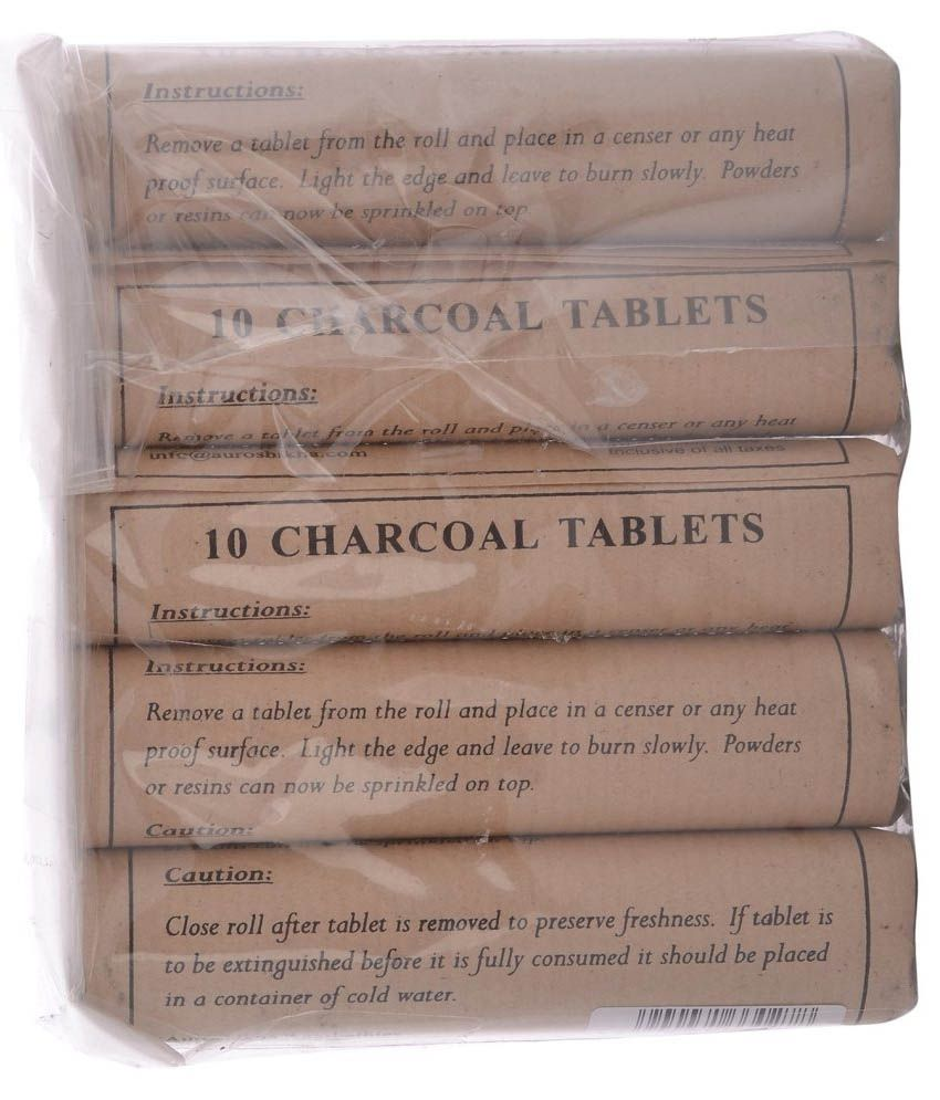 Astounding Auroshikha Charcoal Tablet Roll Set Of 10 Rolls 100 Best Image Libraries Counlowcountryjoecom