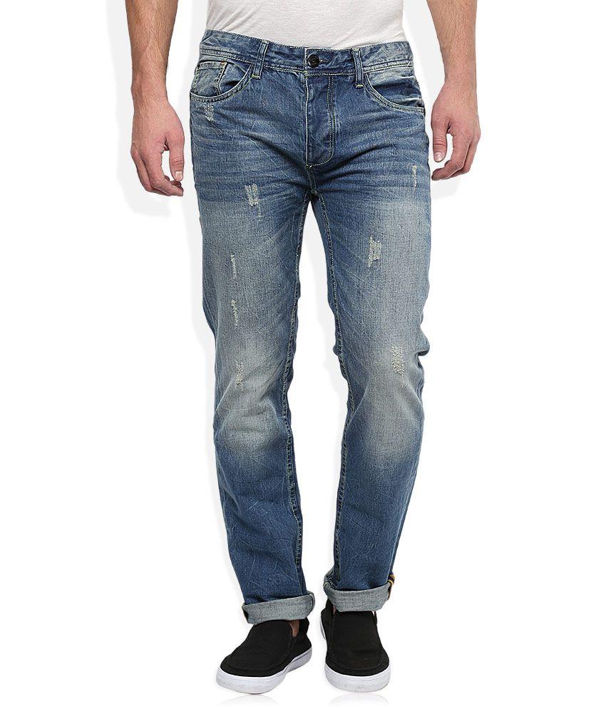 BreakBounce Blue Slim Fit Jeans