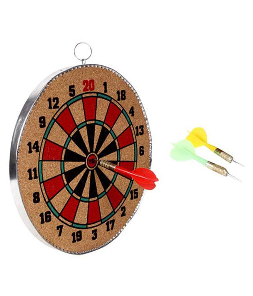 Games Board Brown Wooden Dart Game