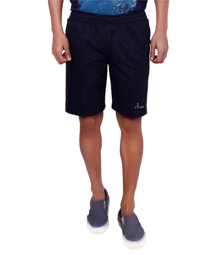 Shree Blue Cotton Short