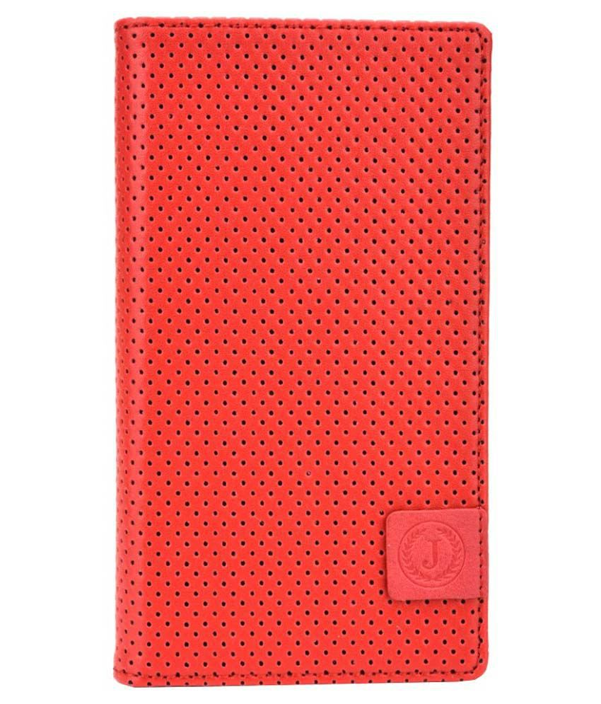 Jo Jo Flip Cover For Honor Bee-Red