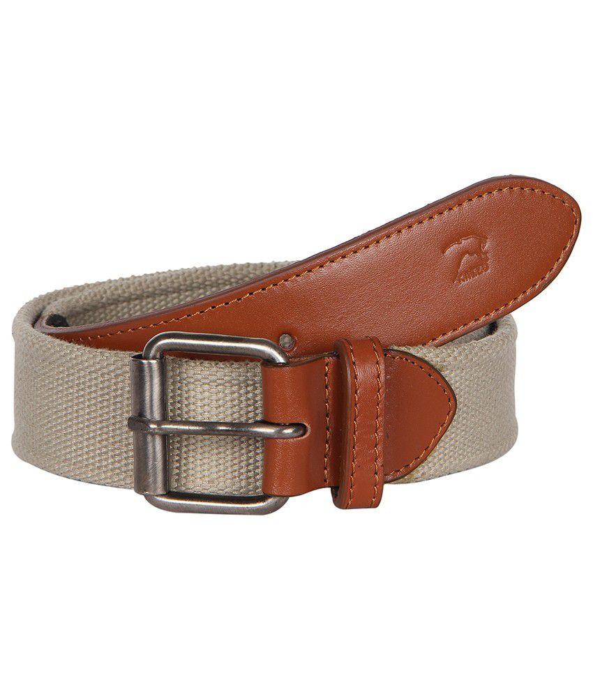 Kaizu Beige Casual Belt For Men