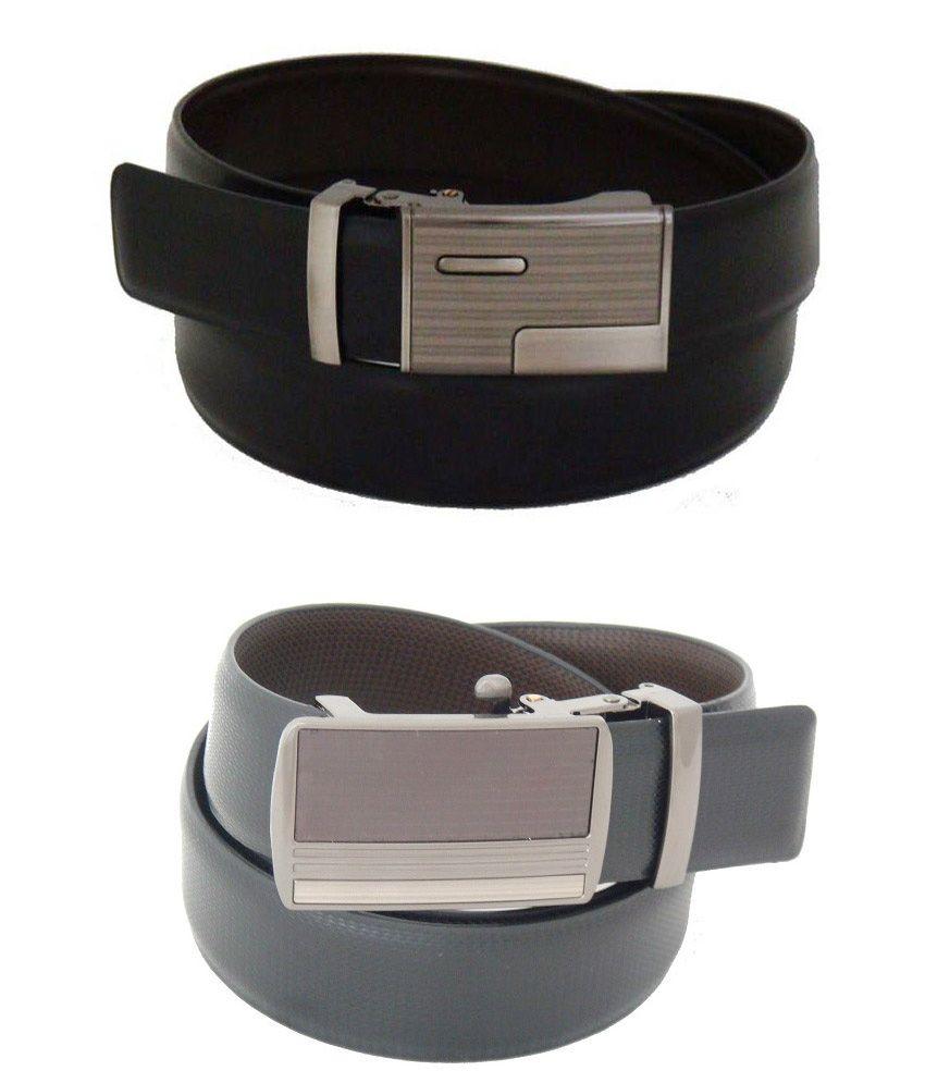 SFA Black Formal Reversible Belt For Men- Pack Of 2