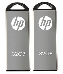 HP V220W USB 2.0 Combo of 32 GB and 32 GB Utility Pendrive - Grey