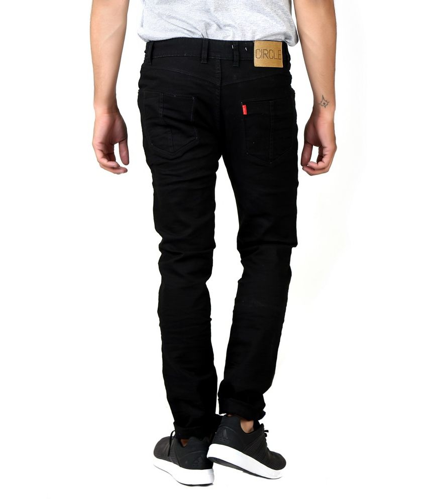 Circle Jeans Black Slim Fit Jeans