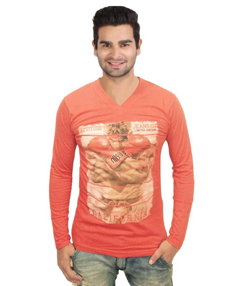 G. S. Enterprise Peach Cotton T-shirt