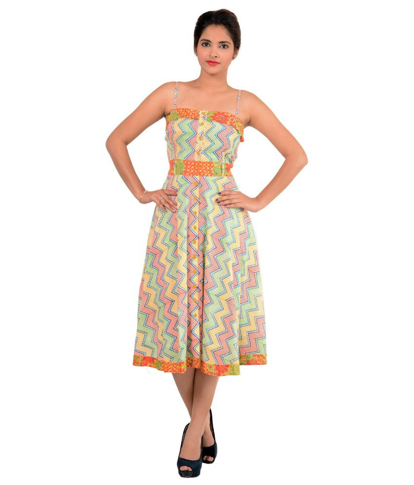 Soma Multicolour Cotton Dresses