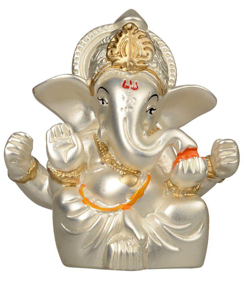 Gurukripa White Resin Ganesha