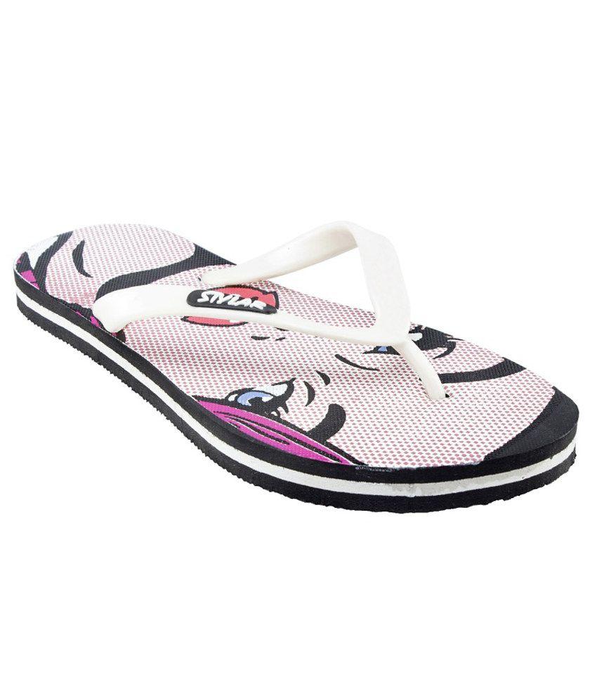 Stylar Comfy Pink Flip Flops