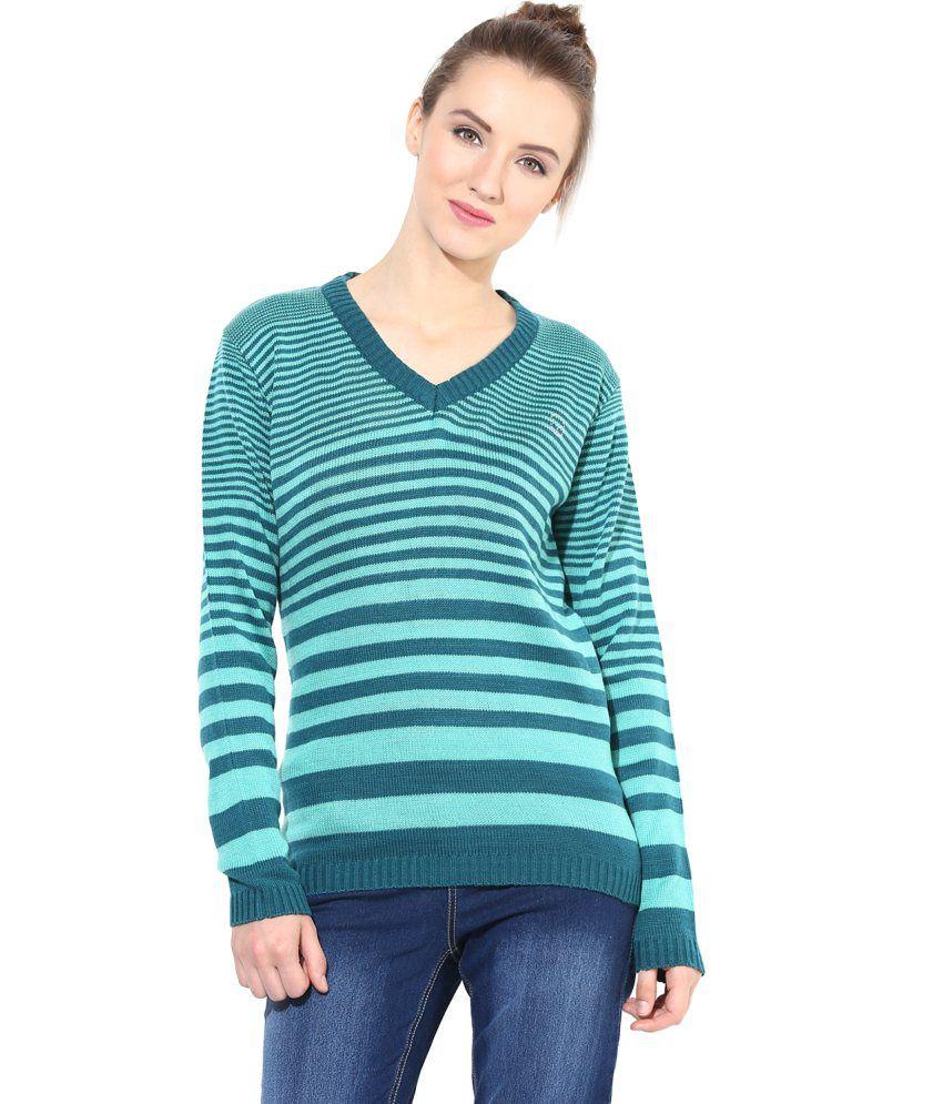 The Vanca Green Woollen Pullover