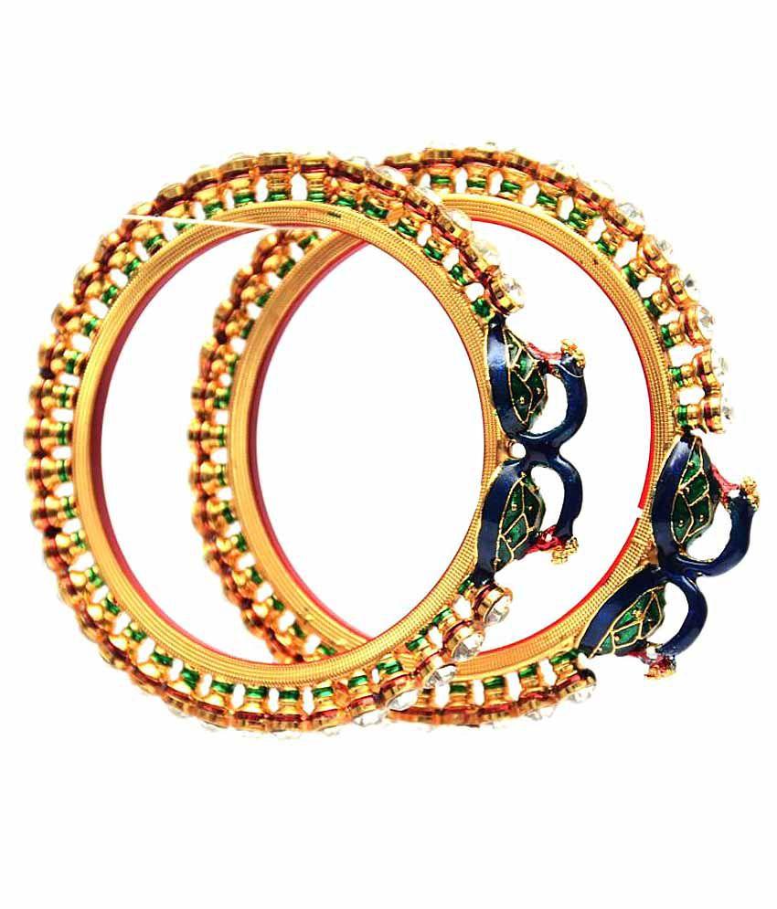 Ultimate Fashion Mayur Multicolour Alloy Pair Of Kadas
