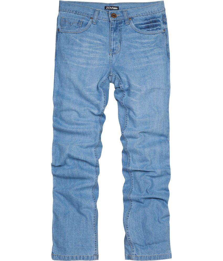 Zovi Blue Cotton Jeans