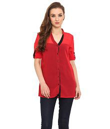 Trend Arrest Red Polyester Shirts