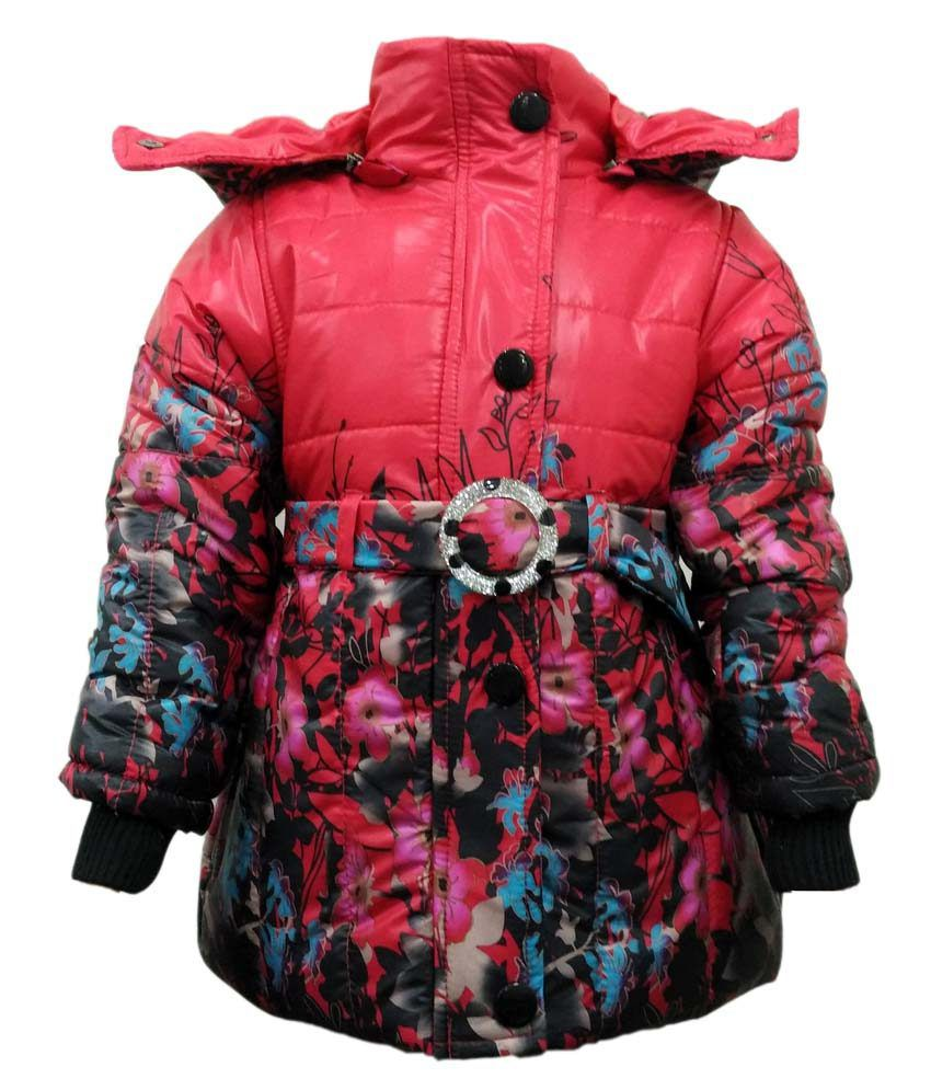 Come In Kids Red Nylon Padded Jacket
