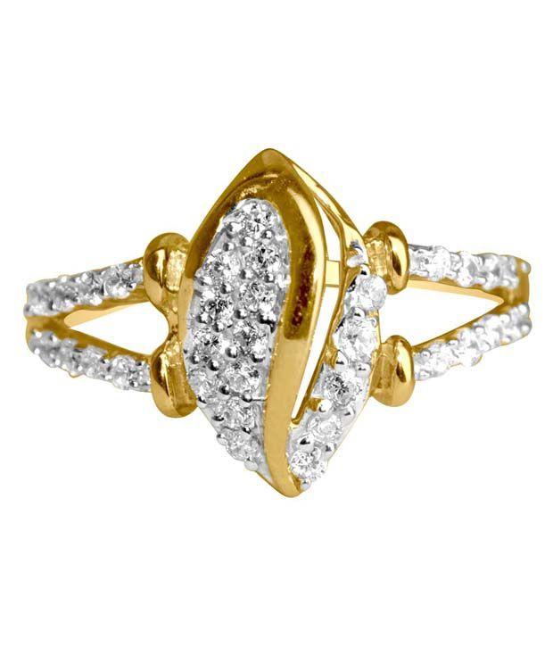 Gvj 18kt Gold Cubic Zirconia Ring
