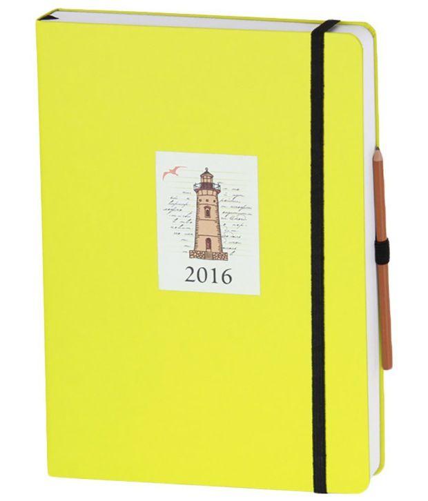 Nightingale Regalia 2016 Diary, 14.7 x 20.6 cm - Yellow