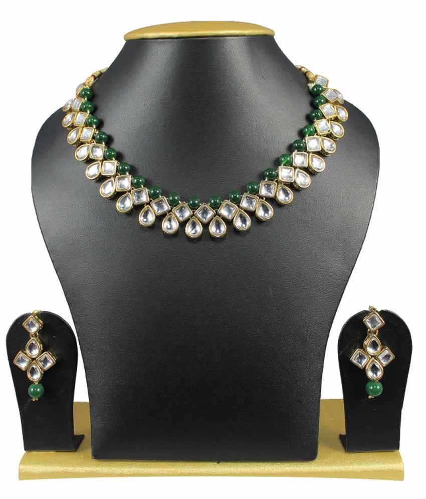Sewad Green Exotic Necklace Set