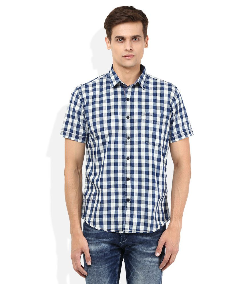 Pepe Jeans Blue Checkered Shirt