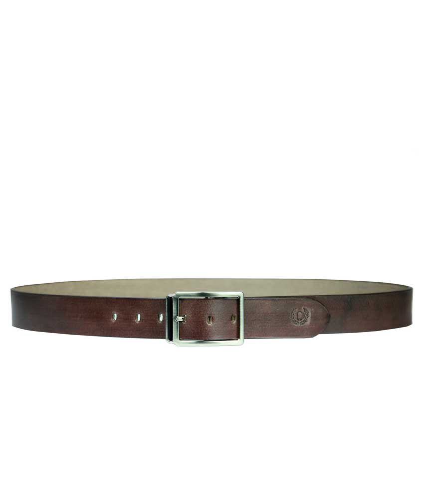 99Cells Casual Brown Leather Unisex Belt