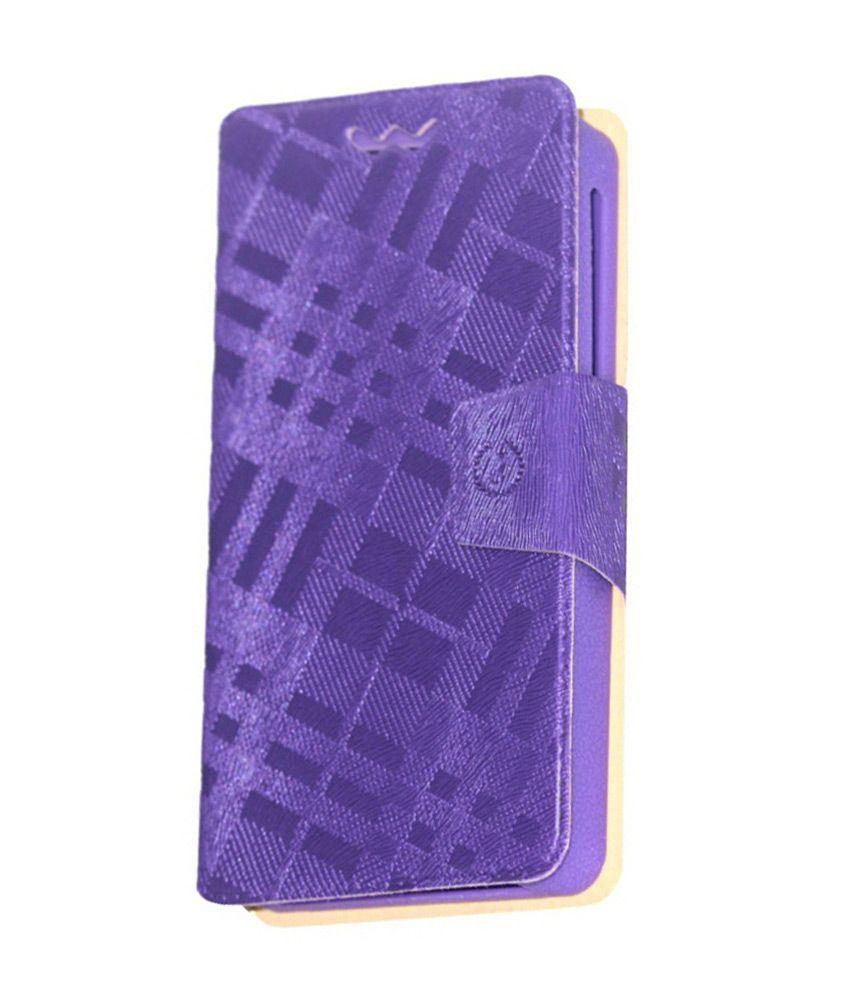 Jo Jo Flip Cover With Holder For Karbonn Titanium S7 - Purple