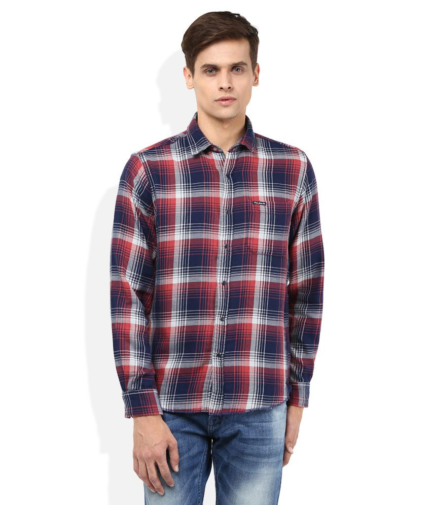 Pepe Jeans Navy Blue Checkered Shirt