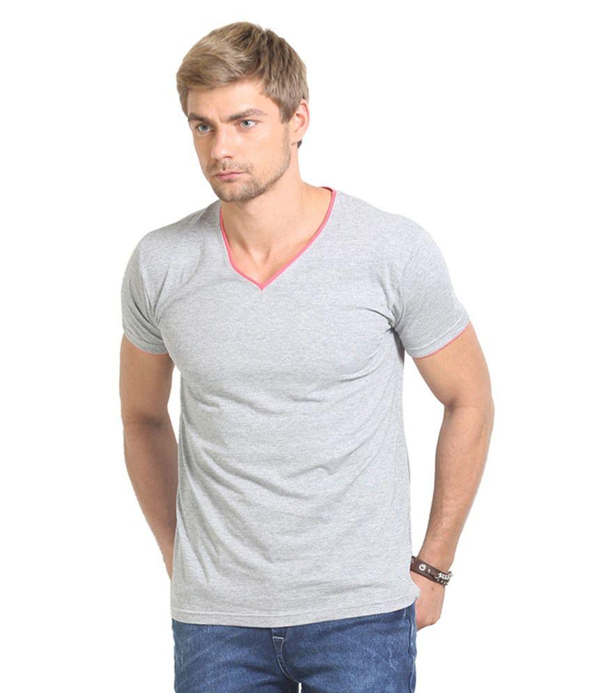 Thisrupt Grey Cotton T-Shirt