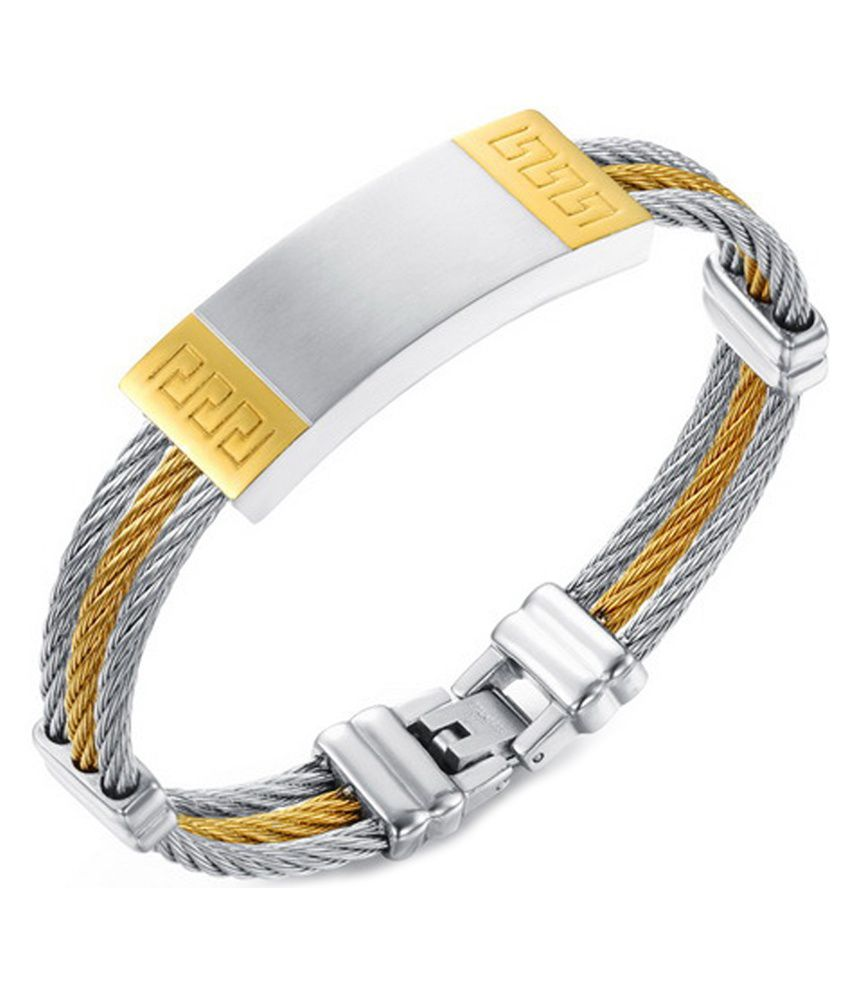 Montague Silver Stainless Steel Bracelet