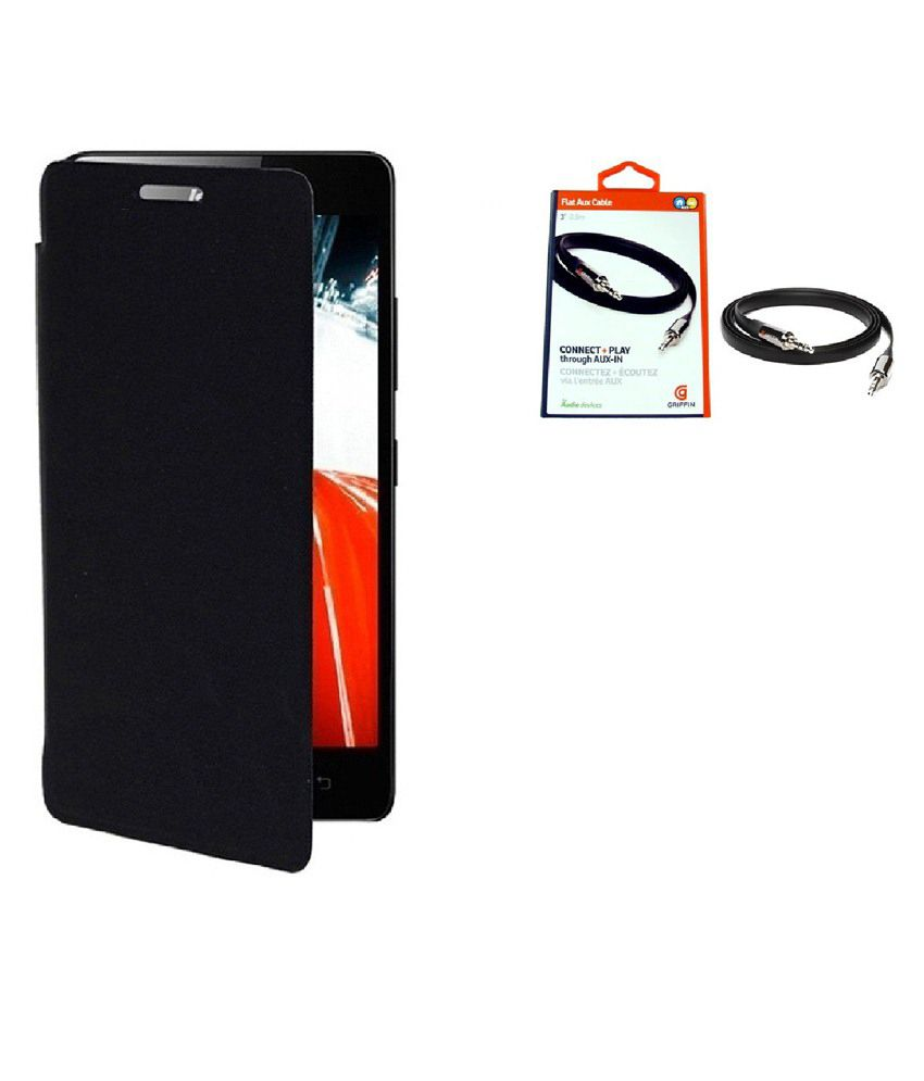 AGS Flip Cover For Samsung Galaxy S5-Black