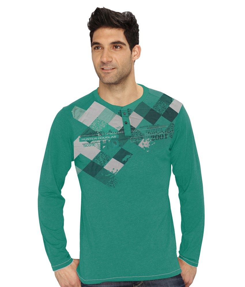Hd Hunter Douglas Green Cotton Blend T Shirt